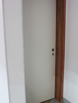 banheiro mané garrincha fechado (Foto: Fabrício Marques)