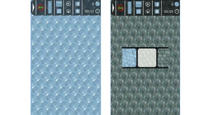 Aplicativos oferecem plástico bolha para estourar no celular e relaxar (Foto: Divulgação/Google Play)