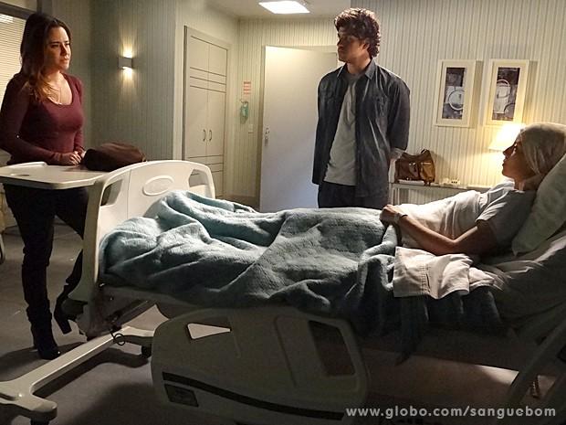 Malu diz que perdoa amora, desde que ela se arrependa verdadeiramente (Foto: Sangue Bom/TV Globo)