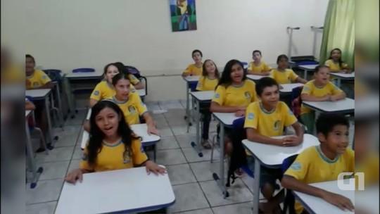 Escola usa paródia de 'Beijinho no Ombro' para ensinar tabuada em MS