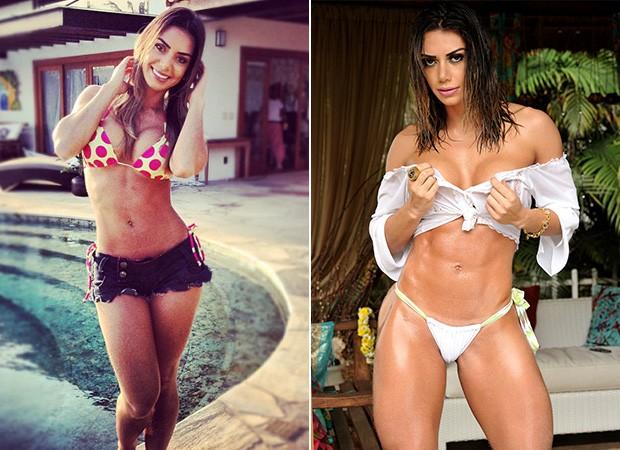 Graciella Carvalho - Antes e Depois (Foto: Instagram / Reprodução - Divulgação / Vanessa Dalceno )