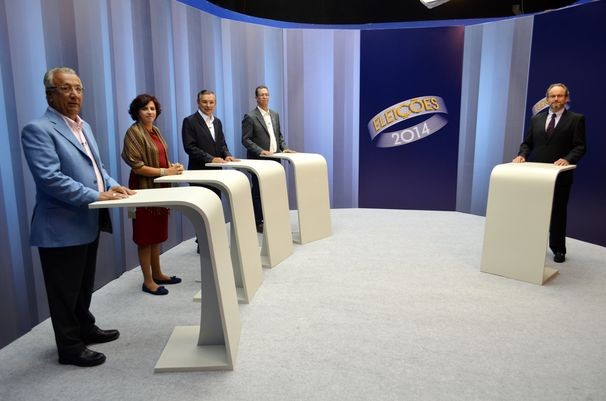 O debate da TV Sergipe contou com a participação de 4 candidatos (Foto: Divulgação / TV Sergipe)