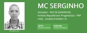 Ficha de MC Serginho no TSE (Foto: Reprodução/TSE)