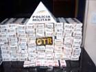 PM encontra cigarros em caminhão de lixo e suspeitos são detidos