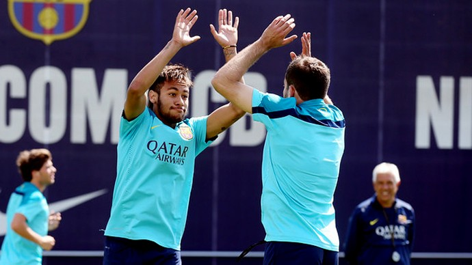 Neymar barcelona treino (Foto: Miguel Ruiz / FC Barcelona)