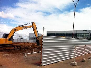 Obra no Aeroporto Marechal Rondon em Várzea Grande (Foto: Renê Dióz/G1)