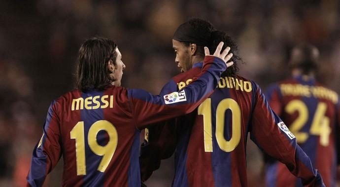 Lionel Messi - Ronaldinho Gaúcho (Foto: Getty Images)