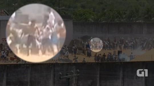 VÍDEO mostra preso com arma de fogo durante batalha em Alcaçuz