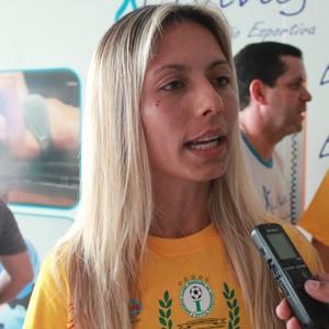 Sâmia Pryscila, a águia, assinou com o Iranduba até o fim do Brasileirão Feminino (Foto: Marcos Dantas)