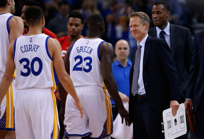 Steve Kerr, Stephen Curry, Golden State Warriors (Foto: Ezra Shaw / Staff / Getty Images)