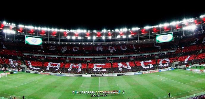 Mosaico Flamengo Torcida - Flamengo x San Lorenzo Libertadores 2017 (Foto: Staff Image / Flamengo)