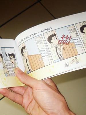 Livro de cartunista de Poços de Caldas (MG) tem 90 páginas coloridas e conta 80 tirinhas da série 'Vida de Leiturista' (Foto: Reprodução/ Arquivo Pessoal)