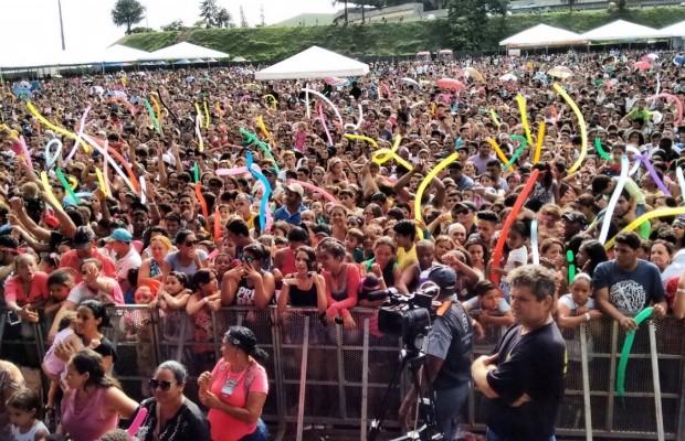 Show da cantora lotou estacionamento do Estádio Serra Dourada (Foto: Aldenne Lopes/CBN)