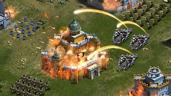 Com destaque para as alianças e campeonatos on-line, Clash of Kings - Last Empire possui vários elementos fantásticos (Foto: Divulgação)
