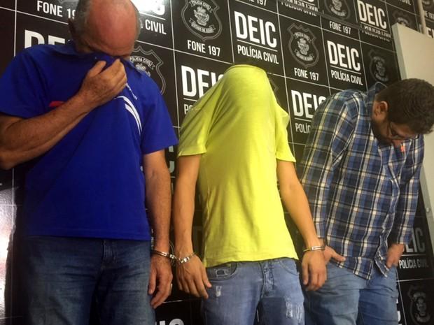 Trio utilizava empresa de fachada para aplicar golpes, em Goiás (Foto: Murillo Velasco/G1)