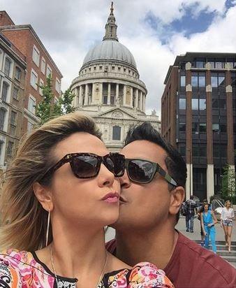 Carla Perez e Xanddy em Londres (Foto: Reprodução/Instagram)
