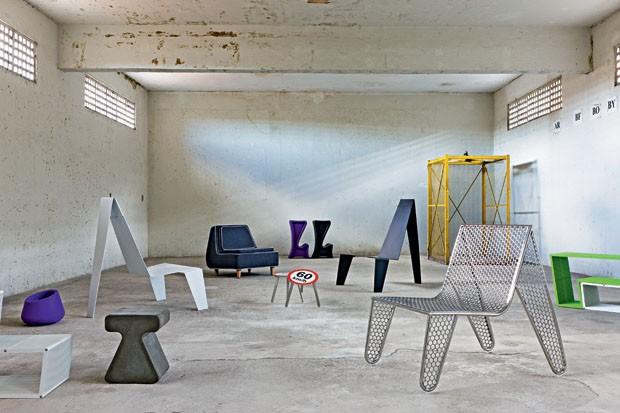 Criação do designer Zanini de Zanine em seu estúdio, no bairro Santo Cristo (Foto: divulgação)