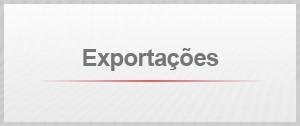 Selo ajuste - exportações (Foto: Arte/G1)