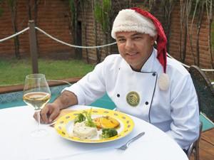 Chef dá toque diferente ao peru de Natal (Foto: Krystine Carneiro/G1)