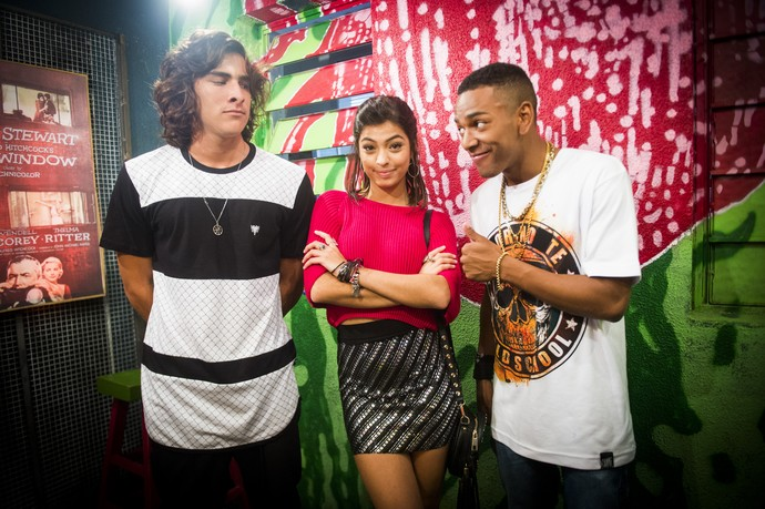 Juntos, os três vivem um triângulo amoroso muito engraçado (Foto: João Miguel Júnior/Globo)