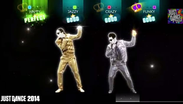 Coreografia de 'Get Lucky', do Daft Punk, que está em 'Just Dance 2014' (Foto: Divulgação/Ubisoft)