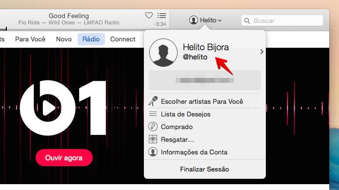 Acesse as configurações do seu perfil no Connect (Foto: Reprodução/Helito Bijora)