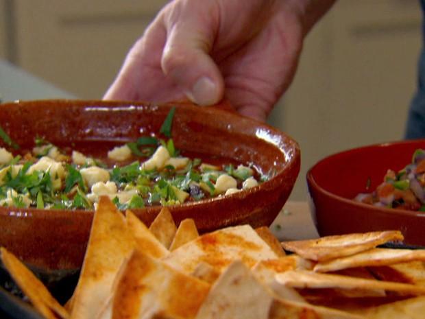 Receita (sopa) mexicana picante - Gordon Ramsay (Foto: Reproduo / GNT)