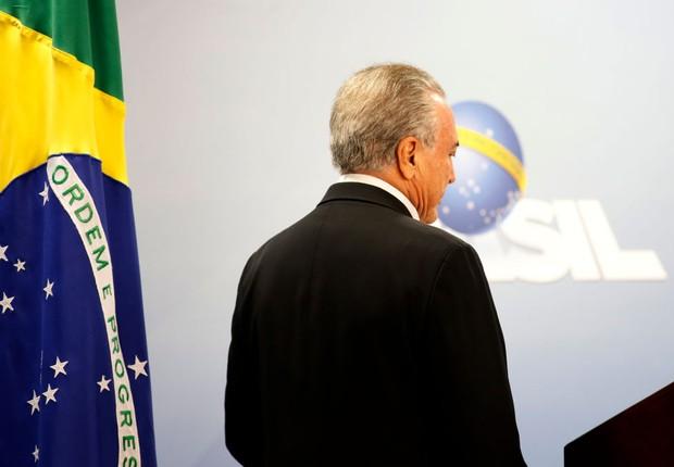Michel Temer, em Brasília (Foto: Igo Estrela/Getty Images)