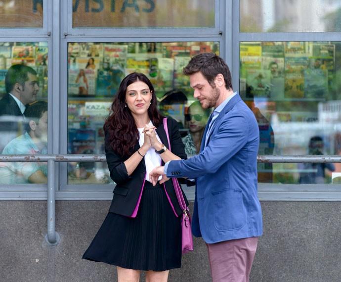 Letícia Persiles e Emilio Dantas dão vida a seus novos personagens  (Foto: Ellen Soares/Gshow)