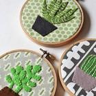 Bordado traz delicadeza para a decoração (Reprodução/Pinterest)