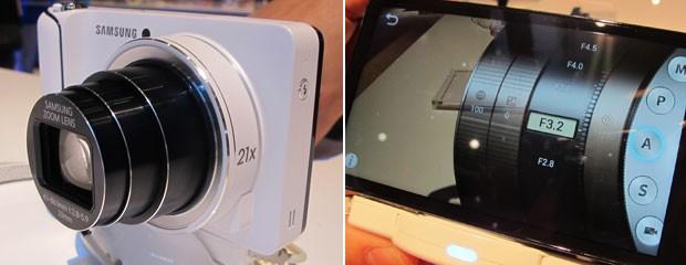 Câmera da Samsung roda Android 4.1 (Jelly Bean)  (Foto: Daniela Braun/G1)