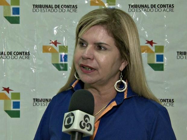 Marilete Vitorino, prefeita de Tarauacá, é a primeira mulher a presidir a Amac  (Foto: Reprodução/Rede Amazônica Acre)