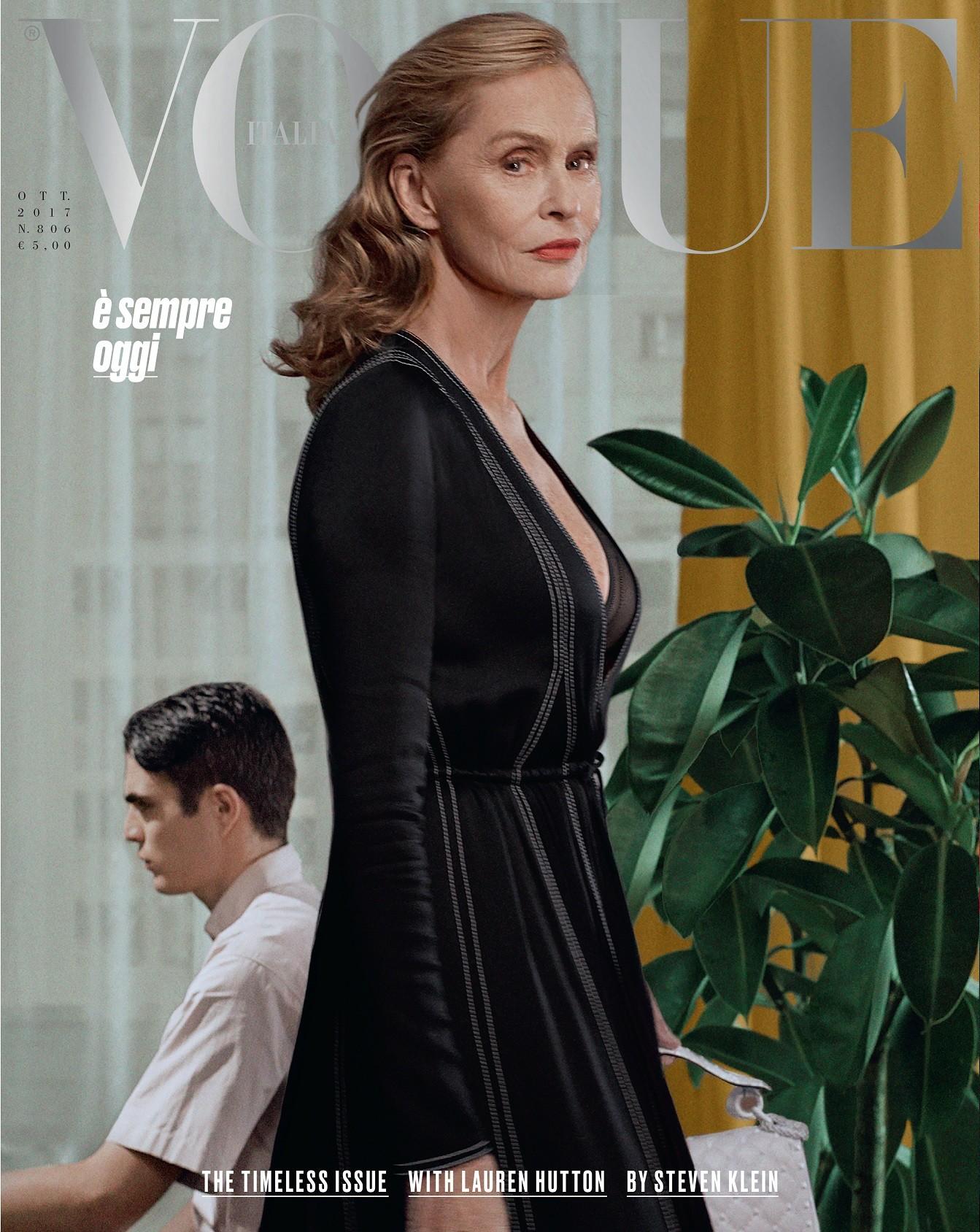 Lauren Hutton é capa de outubro da Vogue Itália (Foto: Steven Klein)