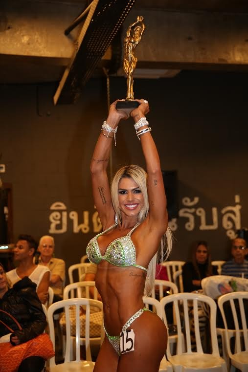 Janaina Santucci vence categoria em concurso fitness (Foto: Davi Borges / MF Models Assessoria )