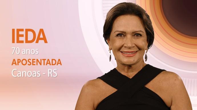Ieda tem 70 anos e é aposentada (Foto: TV Globo)