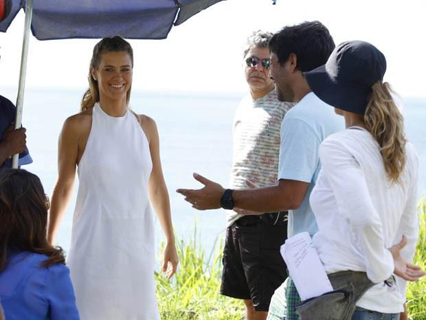 Carolina mostra animação para gravar cenas importantes de sua personagem Jéssica (Foto: Salve Jorge / TV Globo)