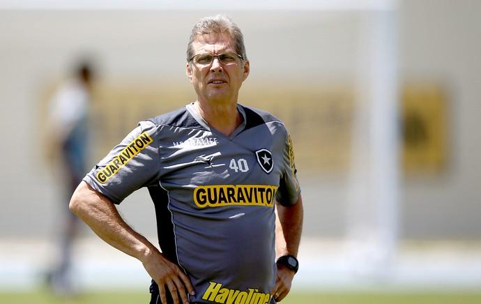 Oswaldo de Oliveira treino Botafogo (Foto: Satiro Sodre / SSPress)