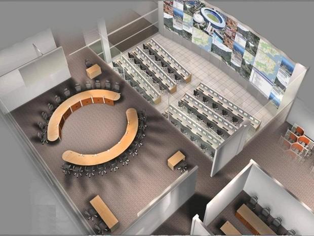 Projeto do novo Centro de Comando Integrado e Controle do RS (Foto: SSP-RS)