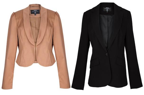 Da esquerda para direita: blazer preto (R$ 129) e casaquinho (R$ 99,90) (Foto: Gabriel Cappelletti)