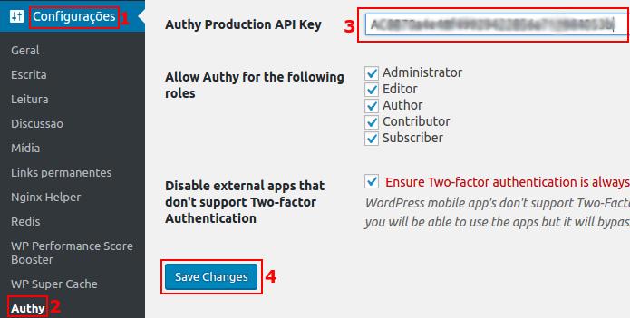 Colando ou digitando a chave de API Authy (Foto: Reprodução/Edivaldo Brito)
