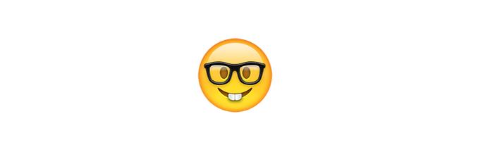 O emoji nerd é bem divetido e pode ser usado nas situações nerds (Foto: Reprodução/emojipedia)
