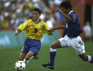 Juninho Paulista, Brasil x Japão, 1996, Olimpíadas de Atlanta (Foto: Getty Images)
