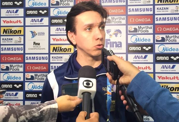 Dr. Gustavo Magliocca - médico da seleção de natação em Kazan (Foto: Globoesporte.com)