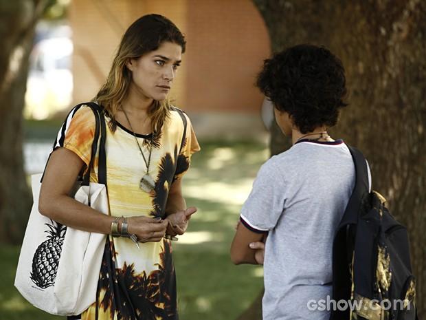 Raquel pede para se explicar  (Foto: Inácio Moraes / TV Globo)