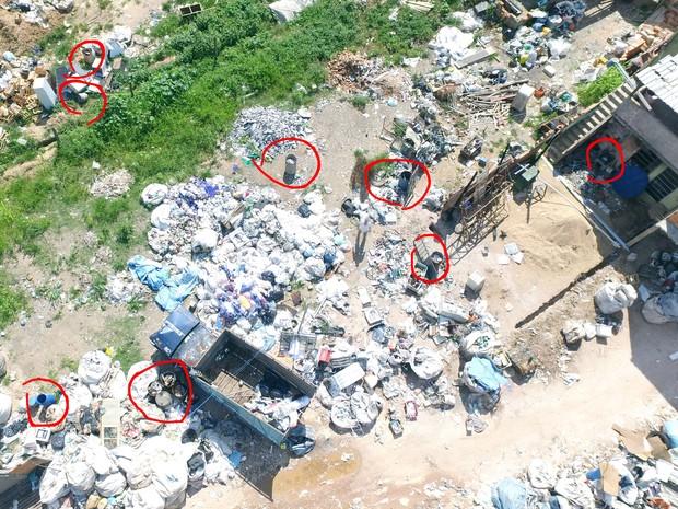 Imóveis são vistoriados por drone em Campo Belo (Foto: Imóveis são vistoriados por drone em Campo Belo)