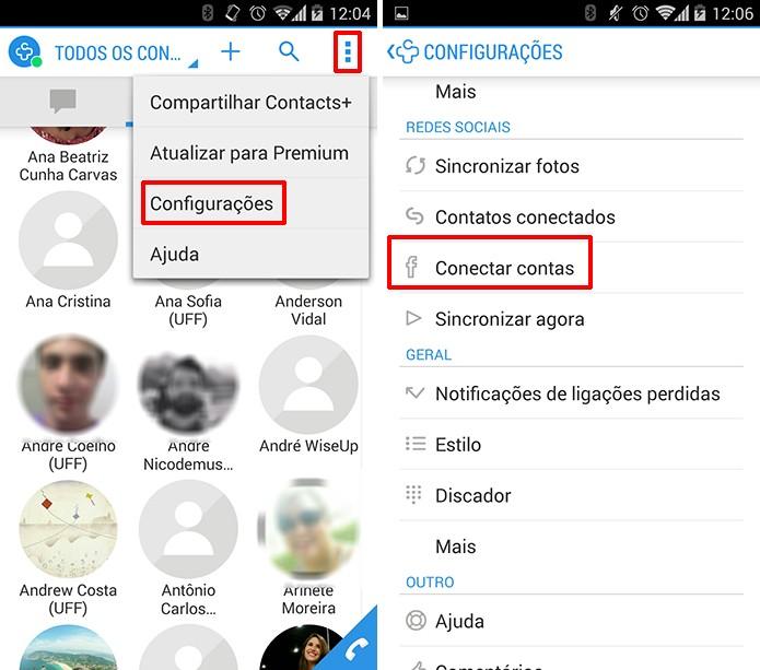 Contacts+ oferece a possibilidade de conectar diversas redes sociais na agenda (Foto: Reprodução/Elson de Souza)