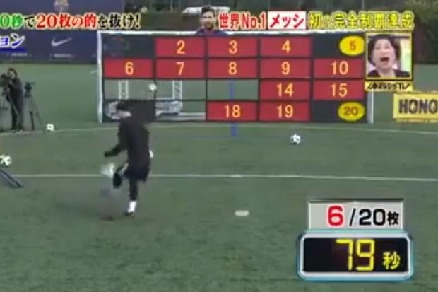 Lionel Messi na TV japonesa  (Foto: reprodução/Facebook)