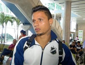 ABC - Rafinha desembarque Natal (Foto: Reprodução/Inter TV Cabugi)