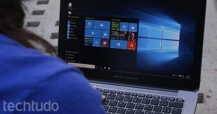 O Windows 10 Home oferece as principais funções do sistema (Foto: Luana Marfim/TechTudo)