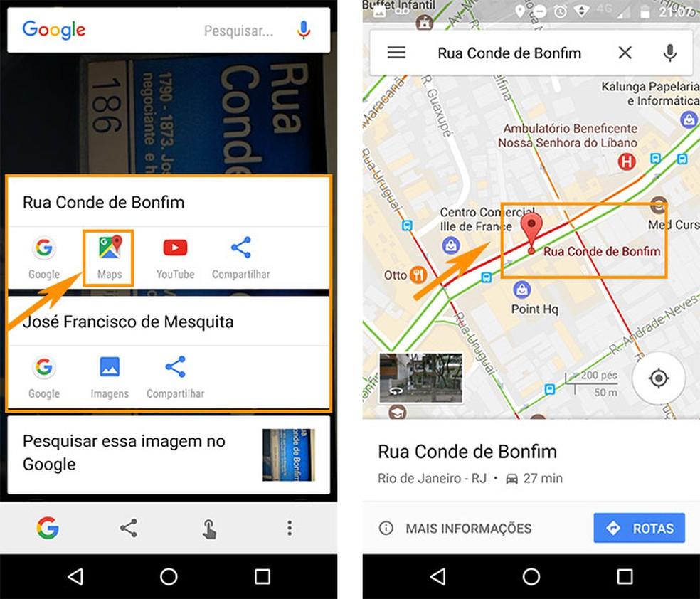 Confira os resultados da imagem e encontre o mapa no Google (Foto: Reprodução/Barbara Mannara)